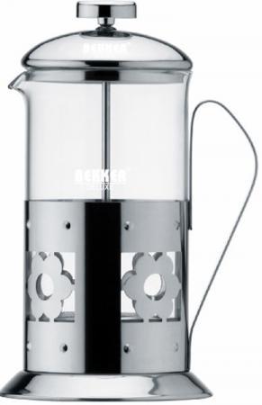 чайник bekker de luxe bk s576 Чайник заварочный Bekker De Luxe 387-BK 0.8 л металл/стекло серебристый
