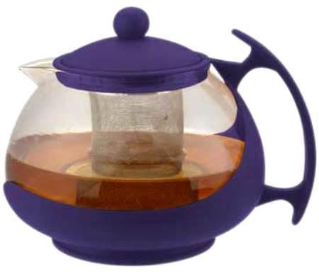 Чайник заварочный Bekker 308-ВК 1.25 л пластик/стекло фиолетовый чайник заварочный appetite 0 7 л фиолетовый