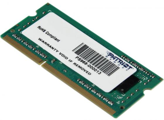 Оперативная память для ноутбуков SO-DDR3 4Gb PC10600 1333MHz Patriot PSD34G133381S jzl memoria pc3 10600 ddr3 1333mhz pc3 10600 ddr 3 1333 mhz 8gb lc9 240 pin desktop pc computer dimm memory ram for amd cpu