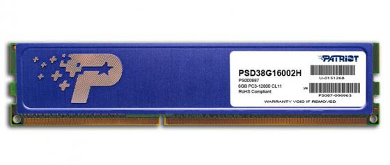 Оперативная память 8Gb (1x8Gb) PC3-12800 1600MHz DDR3 DIMM CL11 Patriot PSD38G16002H память ddr3 2gb 1600mhz patriot psd32g16002 rtl pc3 12800