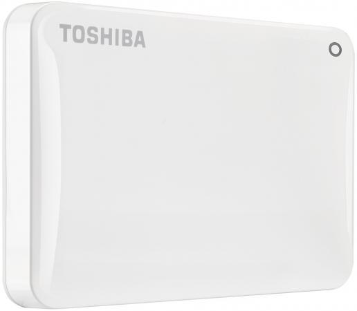 Внешний жесткий диск 2.5 USB3.0 3Tb Toshiba Canvio Connect II HDTC830EW3CA белый жесткий диск toshiba usb 3 0 3tb hdtc830ec3ca canvio connect ii 2 5 золотистый