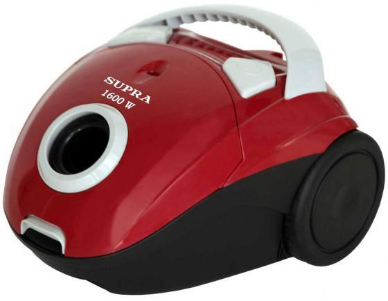 Пылесос SUPRA VCS-1601 c мешком сухая уборка 300Вт красный