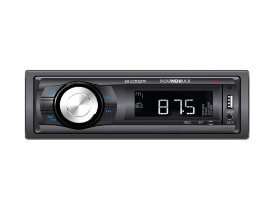 Автомагнитола Soundmax SM-CCR3057F USB MP3 microSD 1DIN 4x40Вт черный автомагнитола soundmax sm ccr3056f usb microsd tf