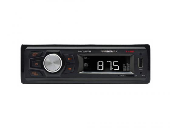 Автомагнитола Soundmax SM-CCR3056F USB MP3 microSD 1DIN 4x40Вт черный