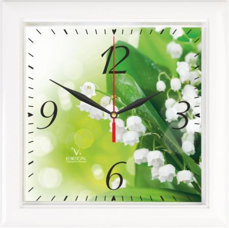 Часы настенные Вега Ландыши П 3-7-120 белый вега вега п 2 7 7 3