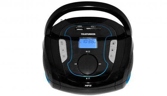 лучшая цена Магнитола Telefunken TF-SRP3471B черно-синий