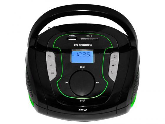 Магнитола Telefunken TF-SRP3471B черно-зеленый радиоприемник telefunken tf srp3471b black green