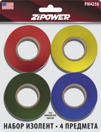 Изолента Zipower PM 4250 4шт zipower pm2196