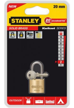 Замок Stanley S 742-040 навесной латунь 20мм bering 30226 742