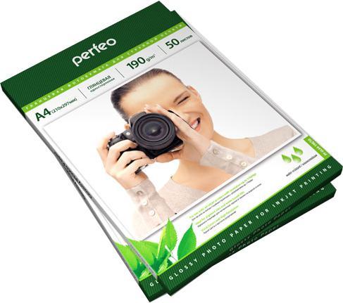 Фото - Фотобумага Perfeo PF-GLA4-190/50 А4 190г/м2 глянцевая 50л фотобумага hp а4 180г м2 50л глянцевая c6818a