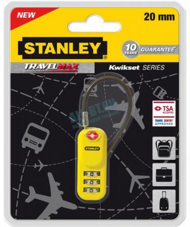 Замок Stanley S 742-061 кодовый 20мм