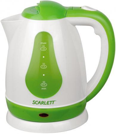 Чайник Scarlett SC-EK18P30 1700 Вт 1.8 л пластик белый зелёный электрический чайник scarlett sc ek18p15
