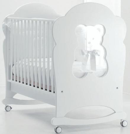 Кроватка-качалка Erbesi Fiocco (белый)