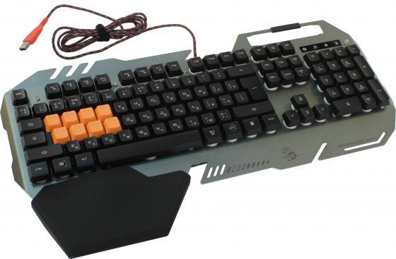Клавиатура проводная A4TECH Bloody B418 USB черный серый клавиатура a4tech bloody b418 b418