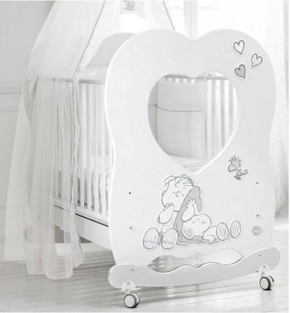 Кроватка-качалка Baby Expert Snoopy Linus (белый/серебро) expert ii 24