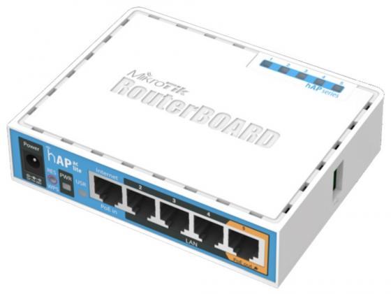 Беcпроводной маршрутизатор MikroTik hAP AC lite 802.11ac 2.4ГГц и 5ГГЦ 4xLAN PoE RB952Ui-5ac2nD маршрутизатор mikrotik rb952ui 5ac2nd tc hap ac lite tower