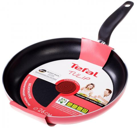 Сковорода Tefal Tulip 04146126 26 см алюминий джемпер hilfiger denim dm0dm02819 099 black iris htr