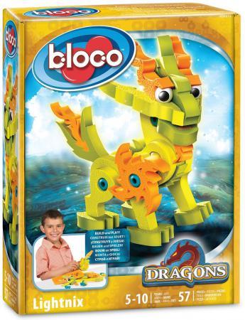 Конструктор Bloco Драконы: Лайтникс 57 элементов 30512 bloco конструктор динозавры велоцераптор и птерозавр