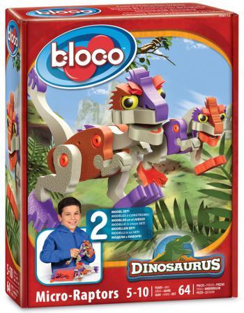 Конструктор Bloco Динозавры: МикроРаптор 64 элемента 30112 bloco конструктор динозавры велоцераптор и птерозавр