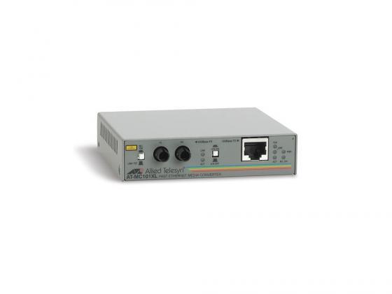 Медиаконвертер Allied Telesyn AT-MC101XL, 100BaseTX to 100BaseFX медиаконвертер allied telesis at mc101xl 60 100tx rj 45