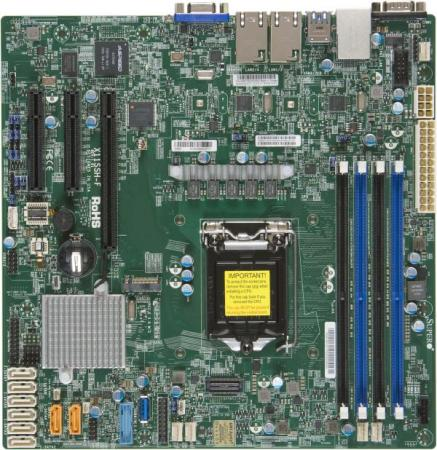 Материнская плата Supermicro MBD-X11SSH-F-O Socket 1151 C236 4xDDR4 1xPCI-E 4x 2xPCI-E 8x 8xSATAIII mATX материнская плата для пк supermicro mbd x10slh f o socket 1150 c226 4xddr3 1xpci e 4x 2xpci e 8x 6xsataiii matx oem