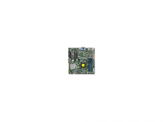 Материнская плата Supermicro MBD-X11SSZ-F-O Socket 1151 C236 4xDDR4 1xPCI-E 16x 2xPCI-E 4x 4xSATAIII mATX Retail материнская плата supermicro mbd x11sae f o soc 1151 ic236
