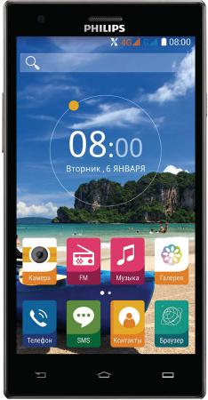 Смартфон Philips S616 черный 5.5 16 Гб LTE Wi-Fi GPS 3G Dark Grey action pw 117p