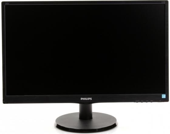 Монитор 23.8 Philips 240V5QDAB черный ADS-IPS 1920x1080 250 cd/m^2 5 ms DVI HDMI VGA Аудио 21 5 asus vs229ha va 1920x1080 250 cd m^2 5 ms dvi hdmi vga 90lme9001q02231c