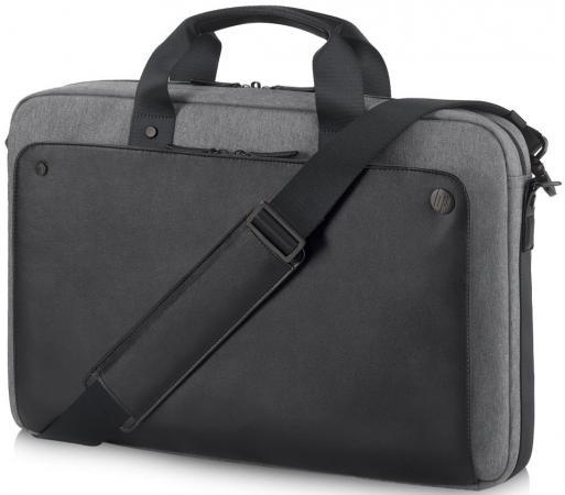 Сумка для ноутбука 15.6 HP Case Executive Black Slim Top Load черный/серый P6N20AA