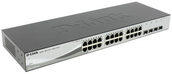 Коммутатор D-Link DES-1210-28/C1A управляемый 24 порта 10/100Mbps коммутатор d link des 1210 28 c1a