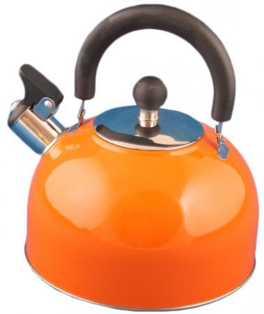Чайник Катунь KT 105 O 2.5 л нержавеющая сталь оранжевый чайник kitchenaid kten20sbob чёрный 1 9 л нержавеющая сталь