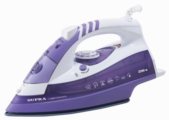Утюг Supra IS-2201 2200Вт бело-фиолетовый утюг supra is 2201
