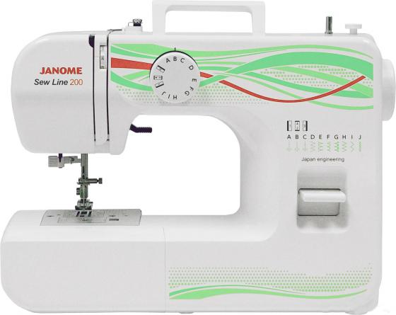 Швейная машина Janome Sew Line 200 белый швейная машина janome sew easy