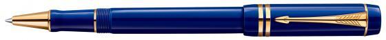 Ручка-роллер Parker Duofold T74 Historical Colors Lapis Lazuli черный F 1907187 роллер parker duofold t74 black gt fblack s0690470