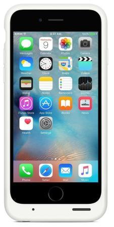 Чехол-аккумулятор Apple Smart Battery Case для iPhone 6 iPhone 6S белый MGQM2ZM/A чехол для смартфона apple для iphone 6s smart battery case white mgqm2zm a