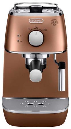 Кофеварка DeLonghi ECI 341 CP Distinta 1100 Вт бронзовый красно-черный кофеварка delonghi ecam44 664 b 1450вт черный