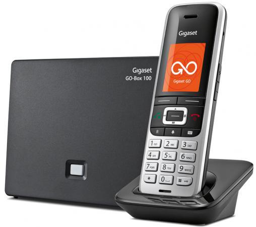 Телефон IP Gigaset S850A GO серебристый черный