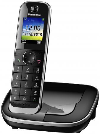 Радиотелефон DECT Panasonic KX-TGJ310RUB черный радиотелефон dect panasonic kx tg6812rub черный