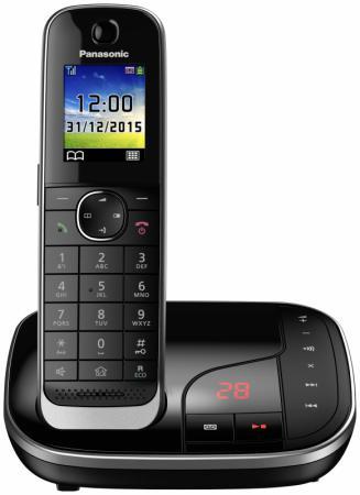 Фото Радиотелефон DECT Panasonic KX-TGJ320RUB черный радиотелефон dect panasonic kx tgj320rub черный