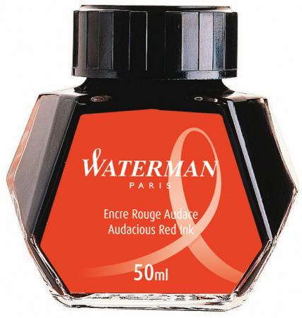 Флакон с чернилами Waterman Ink Bottle 51063 чернила красный 50мл S0110730 professional 6 oz bottle tattoo ink blending agent for ink fixing tattoo suppies