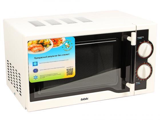 Микроволновая печь BBK 20MWS-712M/WB 700 Вт белый bbk 20mws 712m wb белый черный