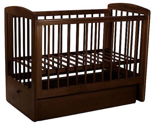 Кроватка с маятником Лель Ромашка АБ16.2 (махагон) обычная кроватка гандылян анжелика к2005 1 с маятником махагон