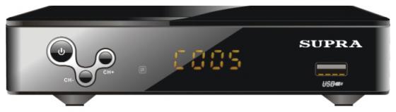 Тюнер цифровой DVB-T/DVB-T2 Supra SDT-93 черный цена и фото