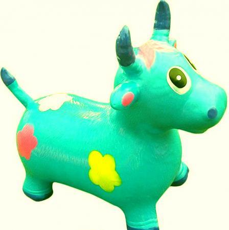 Каталка-попрыгун Shantou Gepai Коровка резина от 2 лет цвет в ассортименте 63991 развивающая каталка ходунки shantou gepai бегемотик