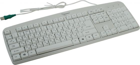 Клавиатура проводная Gembird KB-8350U USB белый цена