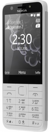 Мобильный телефон NOKIA 230 Dual Sim белый 2.8 телефон