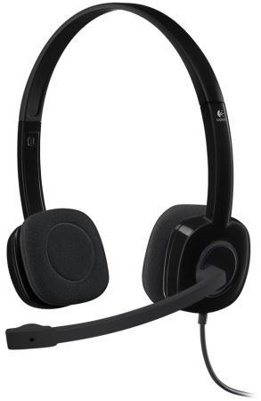 Гарнитура Logitech Stereo Headset H151 черный 981-000589 цена