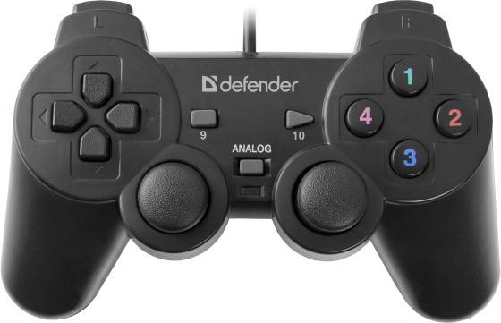 Геймпад Defender Omega USB 64247 defender forsage drift usb ps2 ps3 12 кн рычаг коробки передач 64370