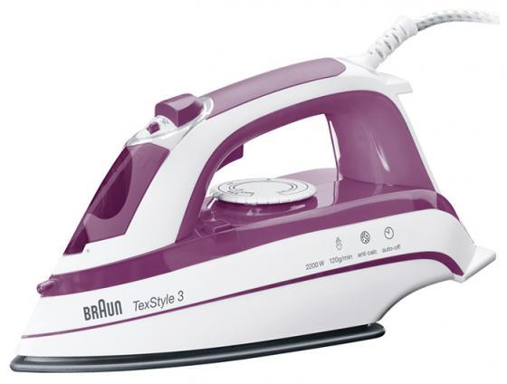лучшая цена Утюг Braun TS365A 2200Вт белый фиолетовый