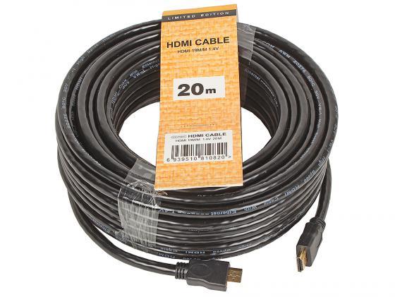 Кабель HDMI 20.0м VCOM Telecom V1.4+3D CG150S-20M кабель hdmi vcom cg525dr 1 8m cg525dr 1 8m